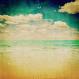Beach sea vintage with texture Stock Photography