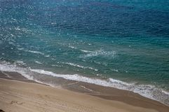 Beach sea waves, a top view.  royalty free stock images