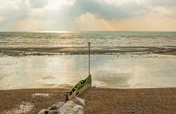 Beach and sea at Worthing, Sussex, England Stock Photos