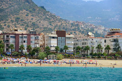 Beach and seafront in Alanya Stock Photo
