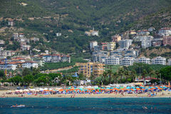 Beach and seafront in Alanya Royalty Free Stock Images