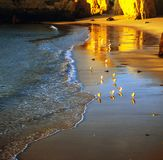 Beach at sunset in Algarve, Portugal Stock Photo