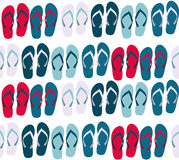 Beach Seamless Background with Flip Flops Vector Royalty Free Stock Images
