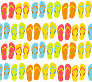 Beach Seamless Background with Flip Flops Vector Royalty Free Stock Photography