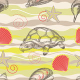 Beach seamless pattern Royalty Free Stock Images