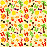 Beach seamless pattern Stock Photography