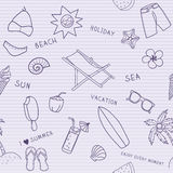 Beach seamless pattern. Scetch Stock Images
