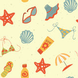 Beach Seamless pattern Royalty Free Stock Photo