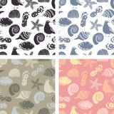 Beach seamless pattern Stock Images