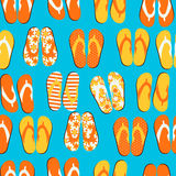 Beach Seamless Retro Grunge Background witj Flip Flops Royalty Free Stock Photo