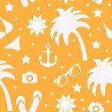 Beach seamless texture, summer background, season, beach, vector illustration Stock Photo