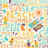 Beach seamless tile Stock Images