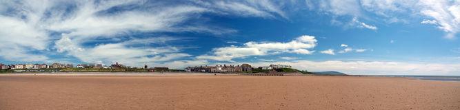 Beach in Seascale, Cumbria. England Royalty Free Stock Photos