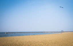 The beach of Seaside Momochi. Stock Images