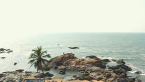 Beach Seaside panorama view. Beach Sea side panorama view stock footage