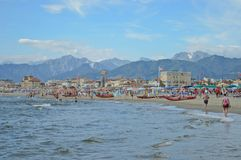 Beach and seaside. Tuscan seaside in Italy Stock Photos