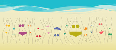 Beach season are open! Stock Image