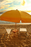 Beach seating Royalty Free Stock Photos