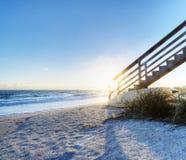 Beach in Sebastian, Florida Royalty Free Stock Photos