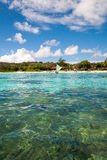 Beach seen from a boat. In Guam, USA Stock Photo