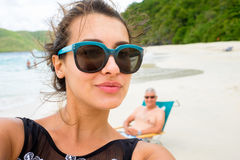 Beach Selfie Royalty Free Stock Image