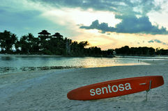 Beach in Sentosa Island Singapore. During the sunset period Stock Image