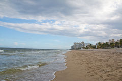 Beach serenity and purity Royalty Free Stock Photography