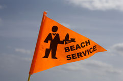 Beach service flag. Flying in breeze on south beach fort Lauderdale, Miami, united states taken in march 2006 Royalty Free Stock Images