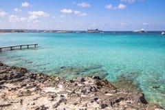 Beach Ses Illetas, Formentera,   Spain Royalty Free Stock Photo