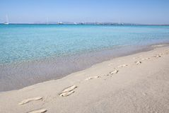 Beach Ses Illetas, Formentera,   Spain Royalty Free Stock Image