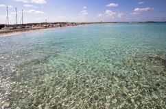 Beach Ses Illetas, Formentera,   Spain. Ses Illetas beach in Formentera,  Balearic Islands, Spain Royalty Free Stock Image