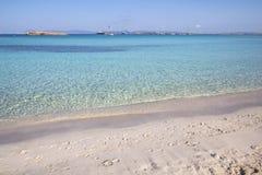 Beach Ses Illetas, Formentera,   Spain Royalty Free Stock Photography