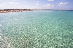 Beach Ses Illetas, Formentera,   Spain. Ses Illetas beach in Formentera,  Balearic Islands, Spain Royalty Free Stock Photos
