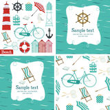 Beach set Royalty Free Stock Images