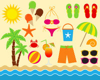Beach Set Royalty Free Stock Image