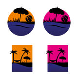 Beach. A set of beach icons Stock Image