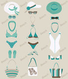 Beach sets for women. Royalty Free Stock Photo