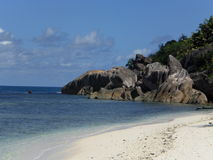Beach, Seychelles. Beach on the Praslin island, Seychelles Stock Image