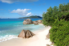 Beach in the Seychelles Royalty Free Stock Photos