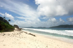 Beach Seychelles. Island La Digue. Royalty Free Stock Image