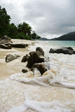 Beach in Seychelles Islands Royalty Free Stock Photos