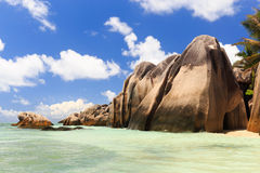 A beach in the Seychelles Stock Photography