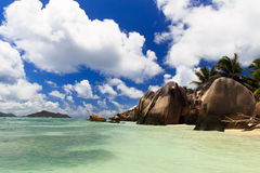 A beach in the Seychelles Royalty Free Stock Photo