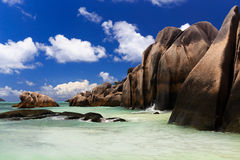A beach in the Seychelles Royalty Free Stock Photos
