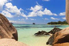 A beach in the Seychelles Stock Image
