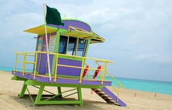 Beach Shack. South Beach Life Guard Station Royalty Free Stock Photo