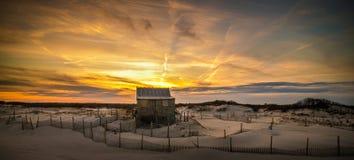 Beach Shack Sunset Stock Photography