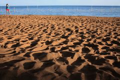 Beach shadows Royalty Free Stock Photography