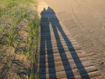 Beach Shadows Royalty Free Stock Images
