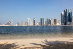 Beach in Sharjah City Royalty Free Stock Photos